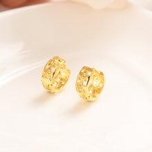 Милые золотые серьги маленькие обручи для женщин и детей детские