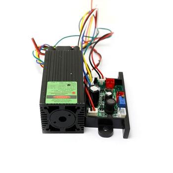12V 532nm 100mw Green Laser Dot โมดูลพัดลมระบายความร้อน TTL 0-30KHZ-Long เวลาทำงาน