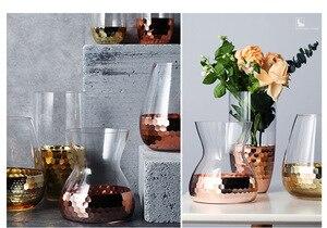 Image 5 - Europeo Disposizione Dei Fiori Fatti A Mano di Vetro Con Trasparente Bottiglia di Acqua Decorazione Della Casa di Nozze Pianta Vaso Decorativo