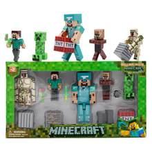 Figurines thème Minecraft en forme de blocs de construction,compatible avec Lepining, cadeau de Noël idéal pour garçons et enfants, poupées, kit,