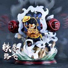 28cm One Piece Anime Figure GK GEAR FOURTH Luffy Battle Statue Action Figure Roronoa Zoro Sanji Ace Marco Shanks Figurine Toys