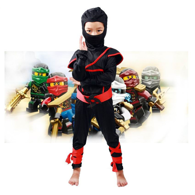 Boys Halloween Party Clothes Sets Legoo Ninjago Cosplay Costumes Children Christmas Clothing Set Girls Ninja Superhero Suits