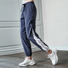 Sport Fitness Pants Women Elastic Band Waist/Foot Quick Dry Loose Running Yoga Pants Female Streetwear Pantalon Femme