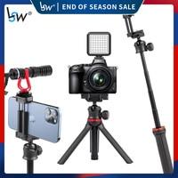 Trípode extensible con palo selfi para iphone/Android/ Gopro/cámara, palo de Selfie inalámbrico con Bluetooth, palo plegable de mano para Vlog de teléfono