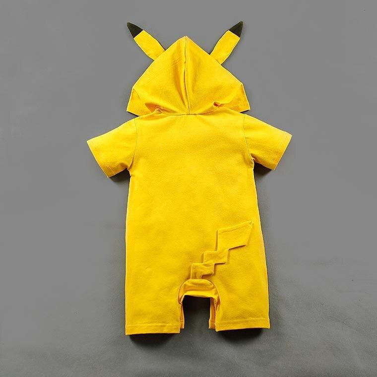 EBay Supply Of Goods Short Sleeve Hooded Pikachu Baby Rompers Pokemon Go Onesie