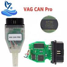VAG puede PRO V5.5.1 con FTDI FT245RL Chip VCP OBD2 interfaz de diagnóstico soporte de Cable USB Bus UDS línea K
