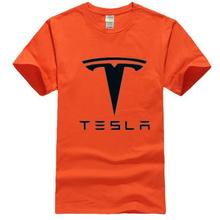 2019 New Tesla Men T Shirts Short Sleeve Round Neck Ringer Letter Printed cotton Male Tees Casual Boy t-shirt Tops many colors round neck letter printed sleeveless t shirt for men