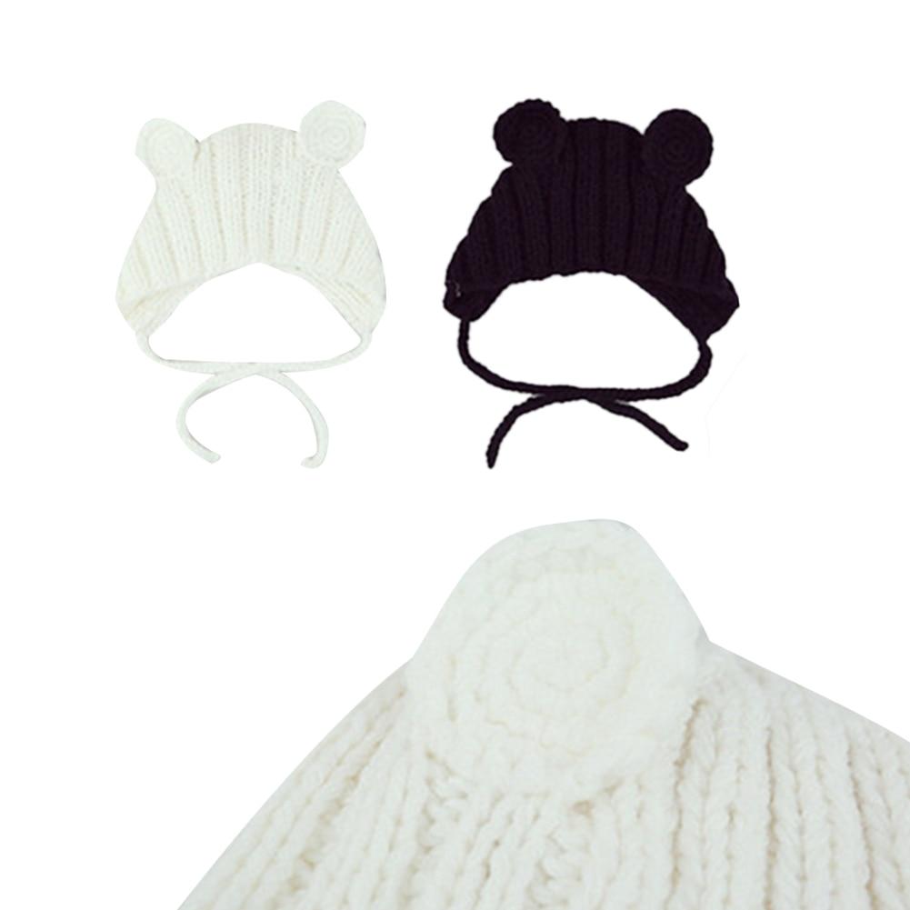 Newborn Kid Baby Girl Winter Warm Wool Hat Hairball Soft Knit Beanies Braid Caps