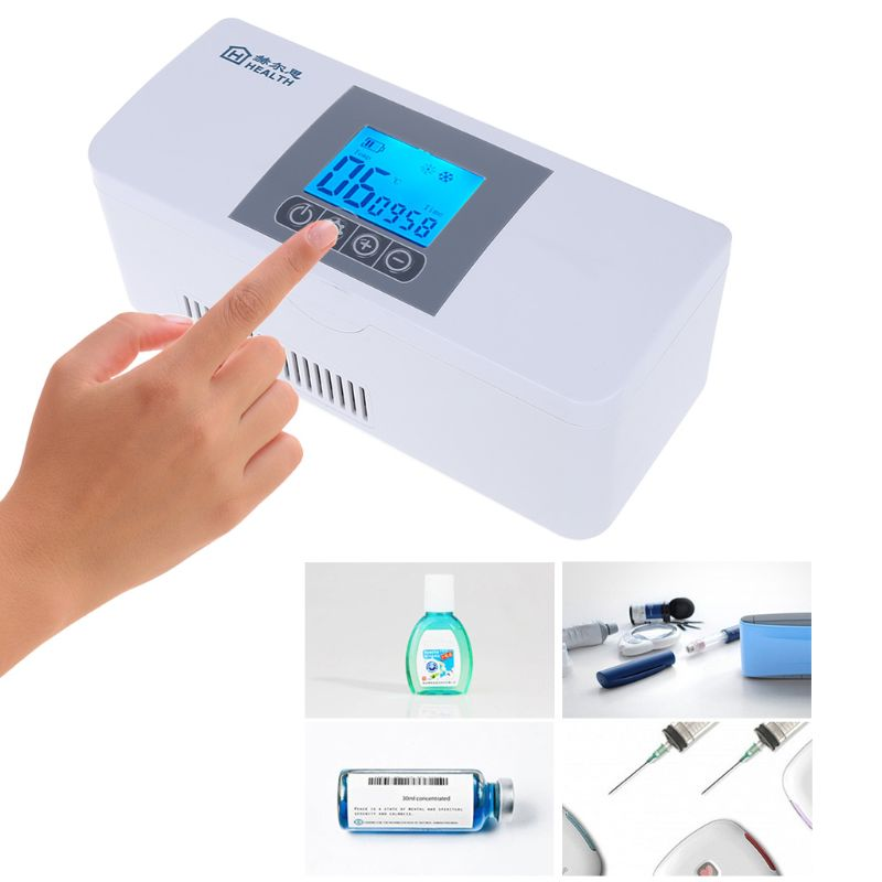 Portable Insulin Cooler Travel Case Cold Medicine Storage Bag Refrigerated Rechargeable Refrigerator For Diabetic Organ