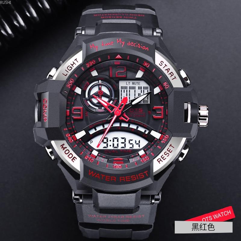 wrist watch schoolboy tide waterproof exercise adolescent children Mechanical multifunction electron wrist watch