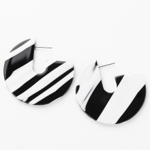 Acetate Acrylic Tortoiseshell Earrings Round Geometric Leopard Elegant Design Jewellery fashion earing for women 2018