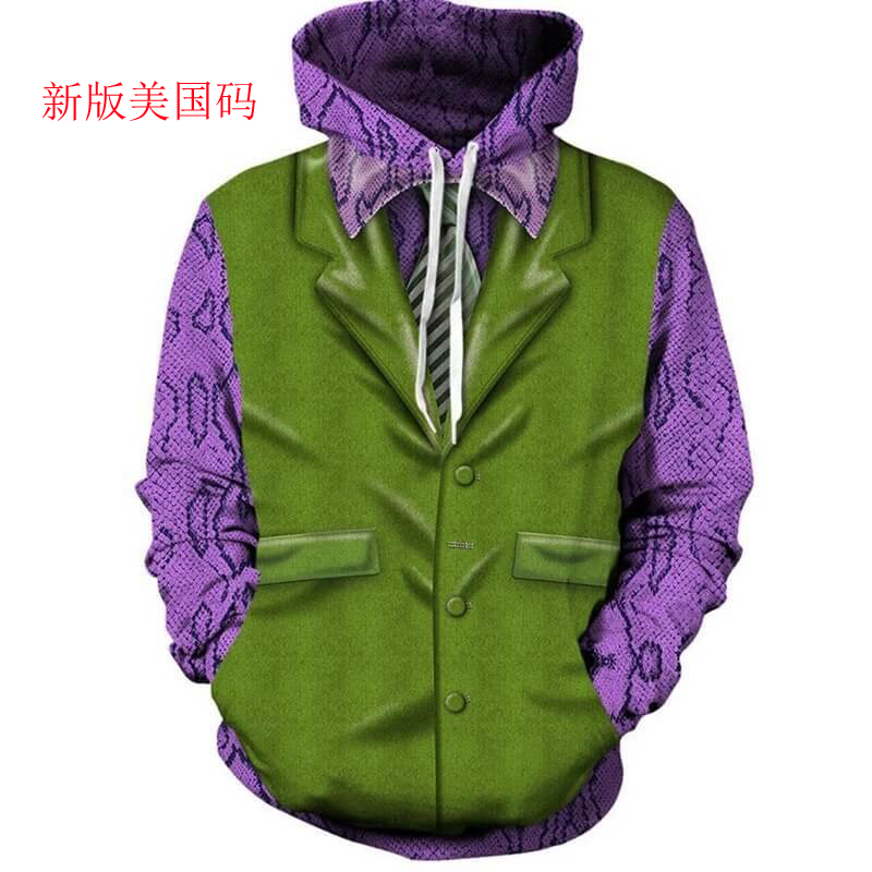 2020 New Sweatshirts Men Brand Hoodies Men Joker 3D Printing Hoodie Male Casual Tracksuits Size XS-7XL Wholesale and retail