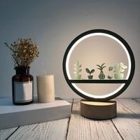 Creative Craft Decoration Wooden Lamp Led Light Night Light Table Lamp светильник настольный Usb LED Book Light Led Usb для книг