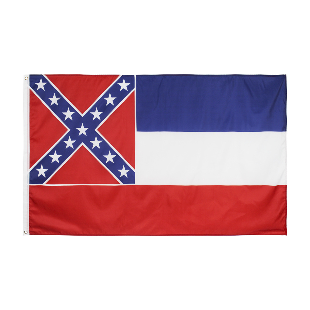 USA State <font><b>Flag</b></font> of Mississippi <font><b>Flag</b></font> <font><b>90X150cm</b></font> Customize <font><b>Flag</b></font> Festival Celebration Home Decoration United States American <font><b>Flags</b></font> image
