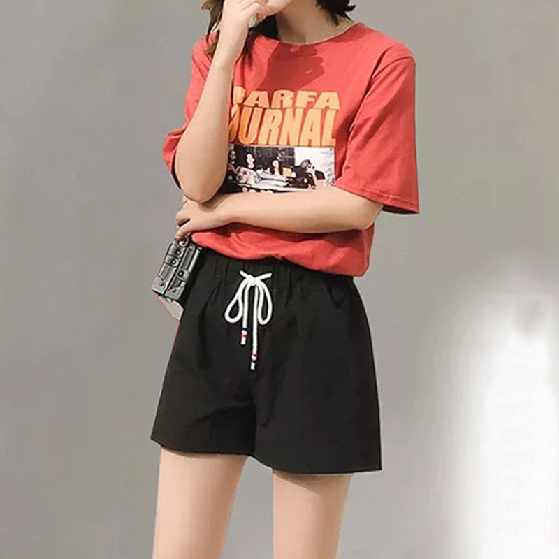 Summer Women's Shorts Korean Cotton Linen Shorts Solid Pockets Female Students Loose Wide Leg Shorts Sports Casual Hot ShortsW