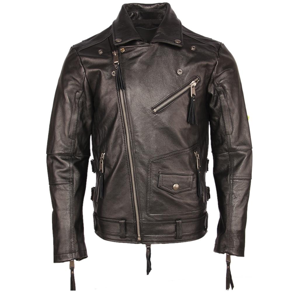 Hdba357200f1242d6b85eb668e194b281X Vintage Motorcycle Jacket Slim Fit Thick Men Leather Jacket 100% Cowhide Moto Biker Jacket Man Leather Coat Winter Warm M455
