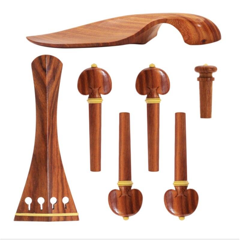 4/4 скрипичный набор полноразмерные аксессуары для скрипки скрипка из розового дерева Peg задняя часть для подбородка (4/4)|Детали и аксессуары для скрипок|   | АлиЭкспресс