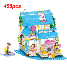 QL1133 Building Block Brick Set Colorful Sea View Room Model Friend Series Mini Figure Educational Toys For Children Kids Gifts kazi police armored car building block swat with weapon series action model brick educational toys for children gifts
