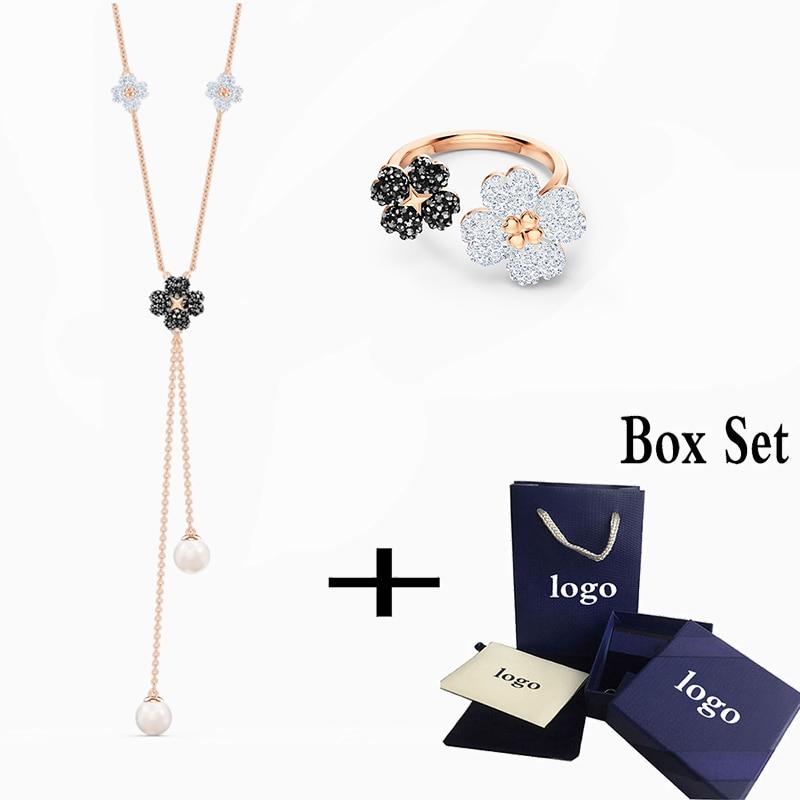 SWA 2020 New Elegant Fashion Exquisite LATISHA Y-shaped Necklace For Girlfriend Romantic Birthday Valentine's Day Gift