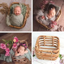 Photography props Newborn Photography Accessories Handmade Retro Woven Basket Fotografie Studio Baby Props for Photography Shoot
