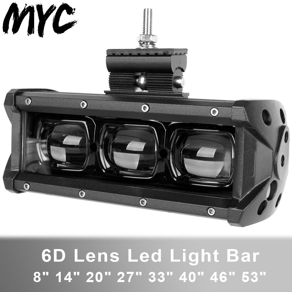 6D Lens Led Light Bar 4x4 Offroad For Car Niva 4WD Truck SUV Uaz ATV Boat Motorcycle Off Road 12V 24V Work Driving Barra Lights