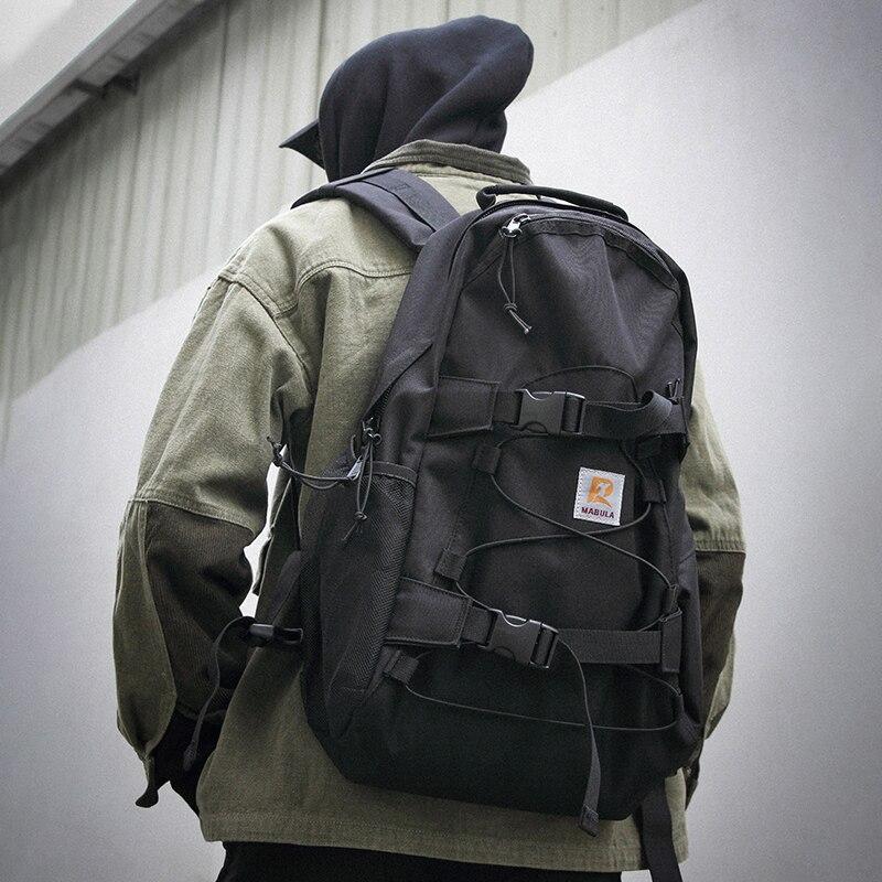 Lightweight Travel School Bag Double Rocker Skateboard Backpack 15.6'' Laptop Bag Durable Oxford Fabric Waterproof Lovers Bag
