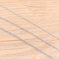 Collar redondo de acero inoxidable con forma de cruz de Squash, joyería artesanal, hecho a mano, 3 tamaños, 5 metros/lote