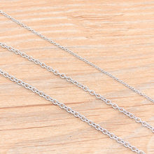 5 Meters/lot 3 Size Round Stainless Steel Squash Cross Necklace Chains For DIY Jewelry Findings Making Materials Handmade