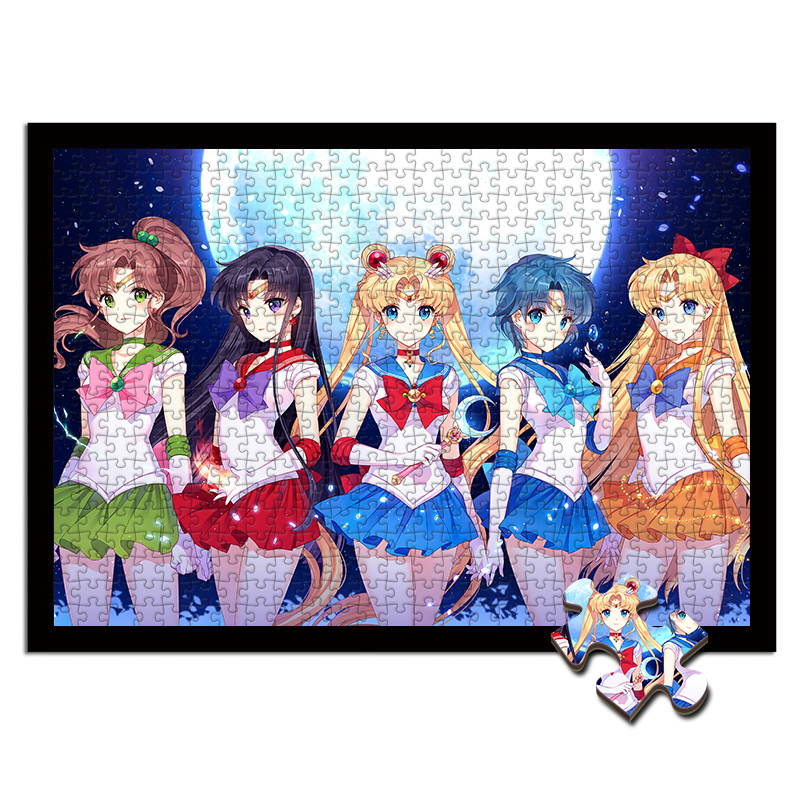 Sailor Moon  Jigsaw Puzzle Wooden Puzzle 1000 Pieces Wooden Toys For Kids Educational Decompression Girl's Birthday Present