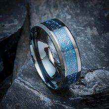 8mm anéis masculinos dragão padrão preto carboneto de tungstênio anéis de noivado casamento bandas aniversário para jóias masculinas