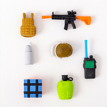 Weapons Rubber Erasers skateboard modelling Pencil Eraser Students Stationery School Supplies For Children Kids Gift