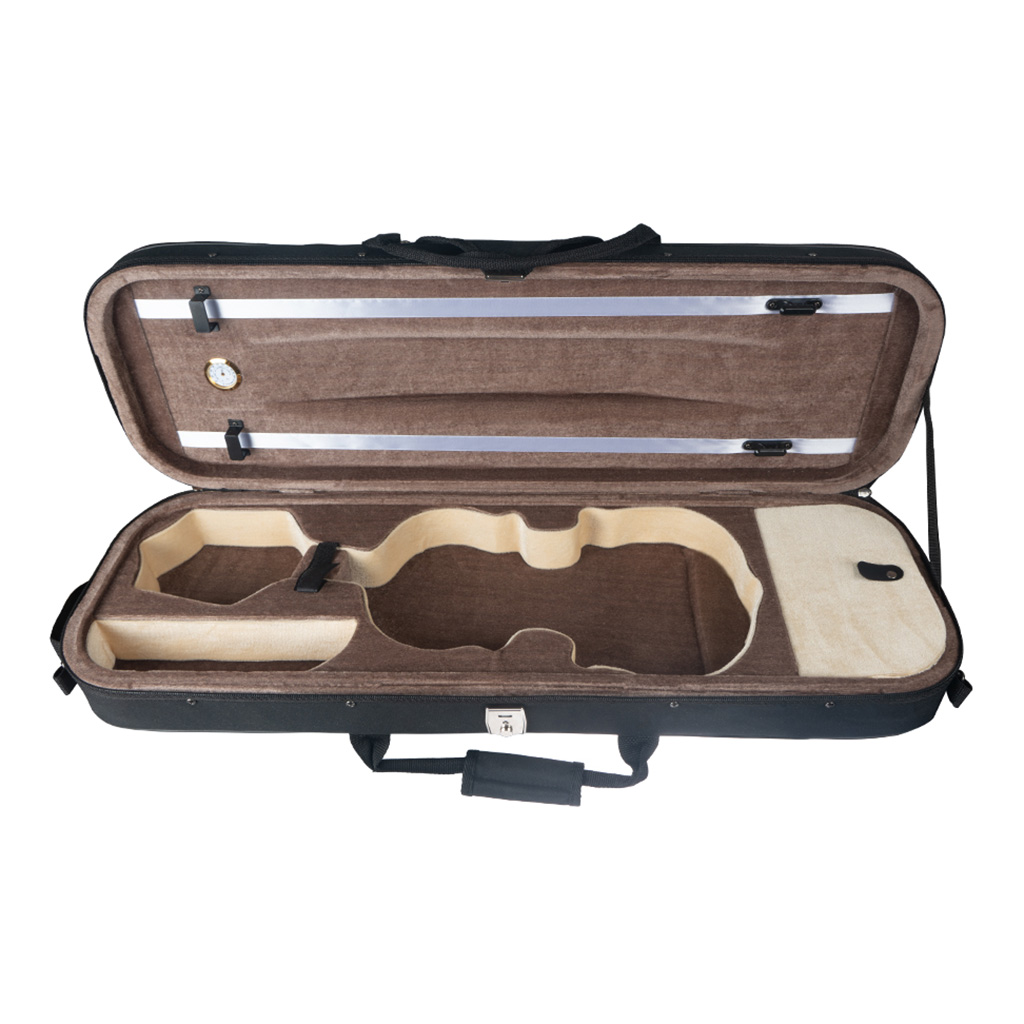1/4 Size Professional Violin Case Bag With Soft Interior And Strap Black