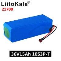 Liitokala 36 v 15ah bateria 21700 5000mah 10s3p bateria 500 w bateria de alta potência 42 v 15000 mah ebike bicicleta elétrica bms