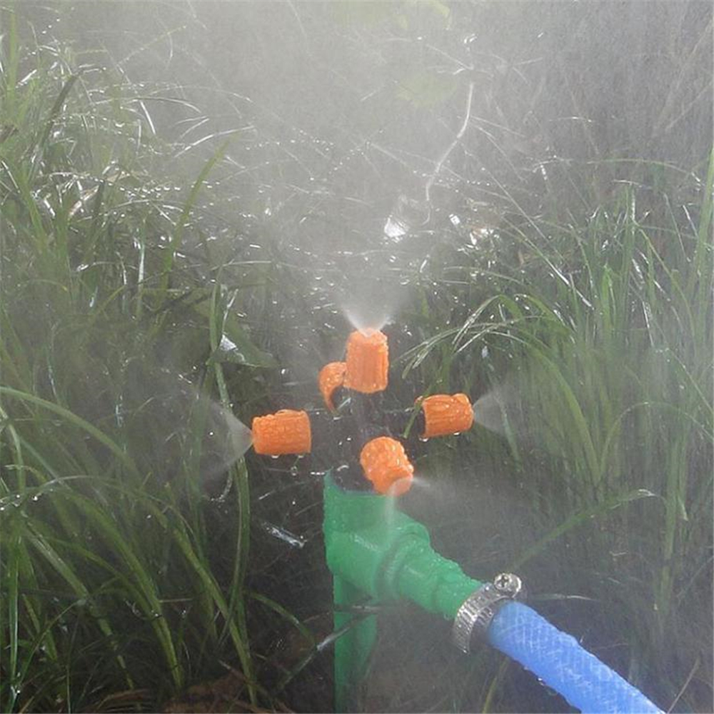 Hdba40298d54b4cf0992f7c6a108270d3l Garden Sprinklers Automatic Watering Grass Lawn 360 Degree Circle Rotating Water Sprinkler 5 Nozzles Garden Pipe Hose
