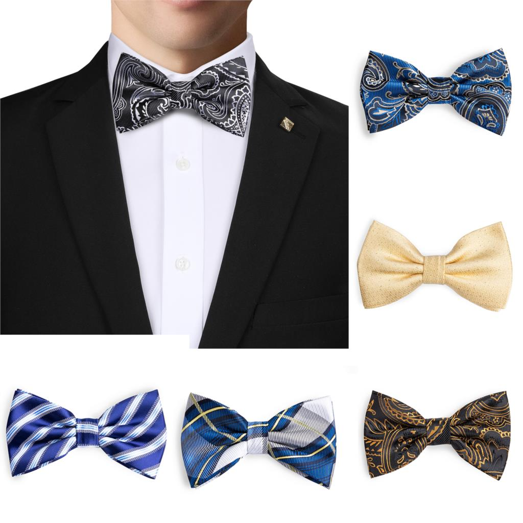 New Men/'s Royal Blue Paisley Butterfly Pre-tied Bowtie Wedding Formal Party Prom
