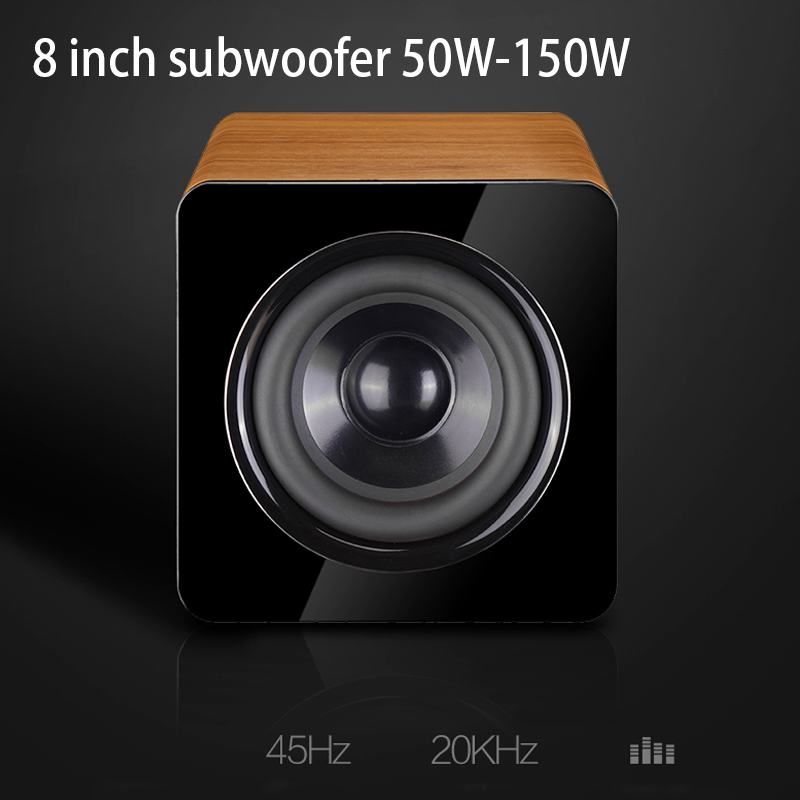KYYSLB <font><b>50W</b></font> ~ 150W P9 Wooden 8 Inch Passive Subwoofer <font><b>Speaker</b></font> New Fashion 5.1 Home Theater <font><b>Amplifier</b></font> <font><b>Speaker</b></font> BLACK BROWN image