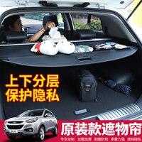 Retractable Trunk Shelf Shade Curtain Security Cargo Cover 1 Pcs For Hyundai IX35 2018 2019 Interior