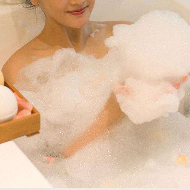 1pcs Spa clean Lavender Bath Salt Ball Body Skin Whitening Ease Relax Stress Oil Bath Ball Natural Bubble Bathing Bombs Balls 4