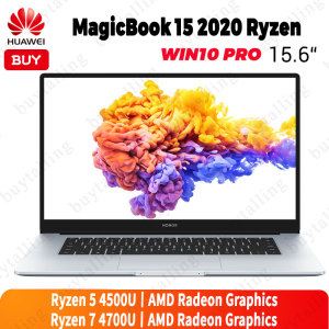 HUAWEI HONOR MagicBook 15 Laptop 2020 Version 15.6'' 7nm process 16GB 512GB AMD Ryzen r5-4500U/r7-4700U Windows 10 Pro English