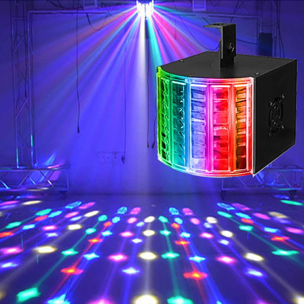 Sound Active LED Stage Light Lighting Projector DMX Laser Beam Disco DJ Party Projector Lamp Colorful Lamp Music Christmas Party