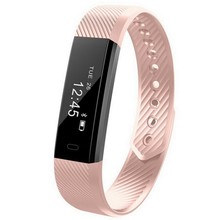 BESTId115 Smart Wristband Fitness Tracker Pedometer Bluetooth Smartband Sports Bracelet(Pink)(China)
