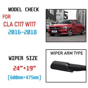 Image 2 - For Mercedes Benz CLA C117 W117 2016 2017 2018 CLA180 CLA200 CLA220 CLA250 CLA45 AMG Accessories Car Front Wiper Blades Brushes