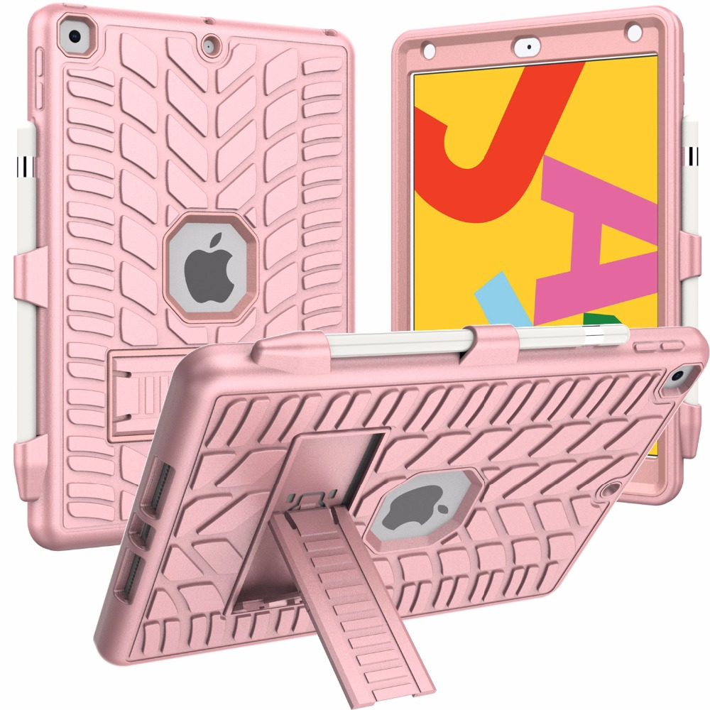 iPad with Pencil Case Tire Hard Shockproof 10.2 Generation 8th For Pattern Holder 2020