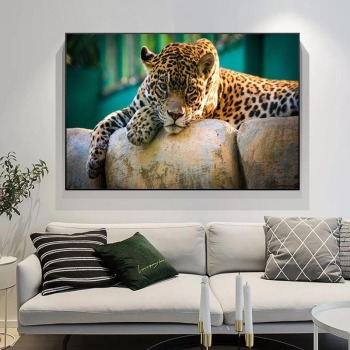 Leopard Rest On The Tree Real Nature Photo Canvas Art Prints Cheetah Poster Painting On Wall Decor Mural Picture For Living Room недорого