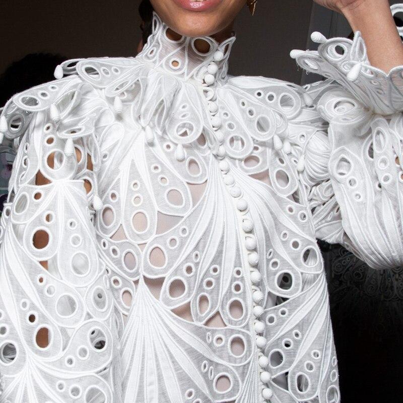 Women Top Blouse Lace Fashion Vintage  Elegant White Black Cardigan 2019 High Quality Tops Female Clothes Ladies Shirts 2 Pieces