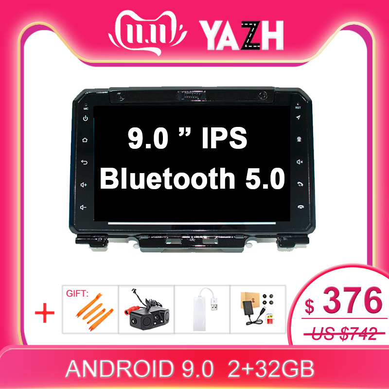 1 Din Android 8.1 GPS Radio For Suzuki Jimny 2019 Head Unit 9.0 Inch 2G 32G Octa Core System Support MIrror-link GPS Navigation image