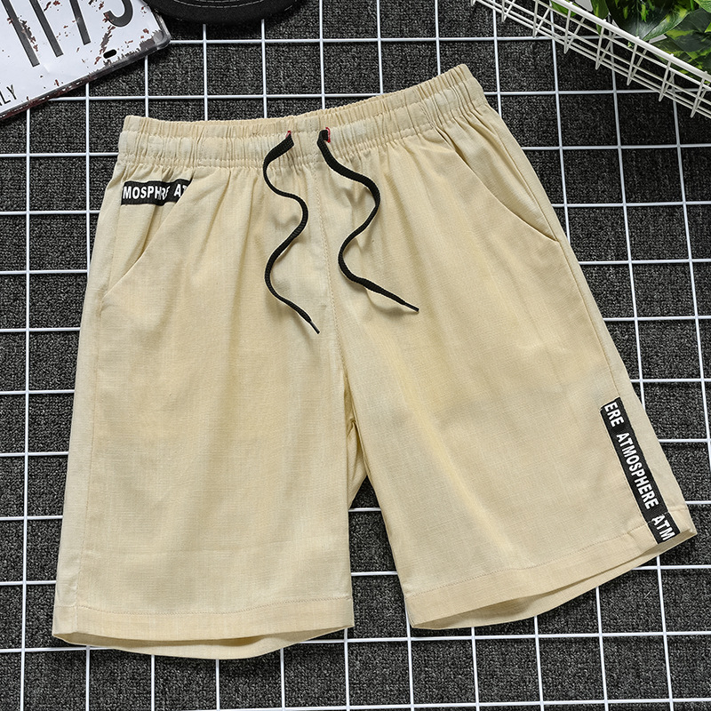 Leisure Five-point Pants Men's Cotton Linen Casual Shorts Beach Casual Sports Shorts Loose Comfortable Summer Japanese