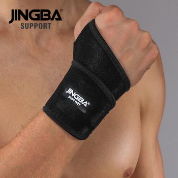 Wsparcie JINGBA 1 sztuk wysokiej jakości neopren regulowany ochronny sprzęt bokserska taśma do ochrony rąk wsparcie + podnoszenie ciężarów bandaż nadgarstek tanie i dobre opinie JINGBA SUPPORT Uniwersalny CN (pochodzenie) Neoprene Wrist Support wristband Support wrist band men Weightlifting Bandage Wristband