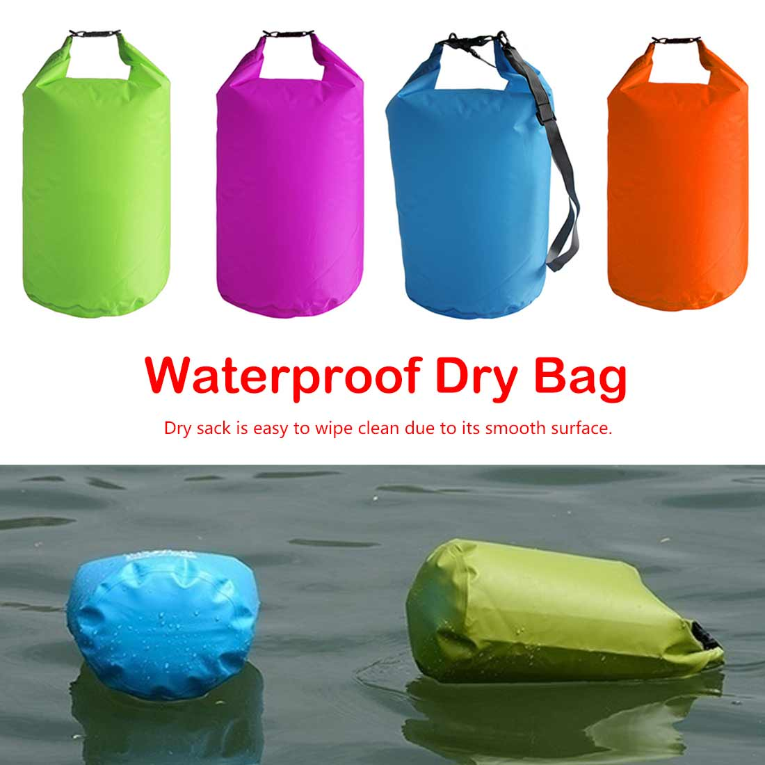 5L/10L/20L Waterproof Dry Bag Pack Sack Swimming Rafting Kayaking River Trekking Floating Sailing Canoing Boating