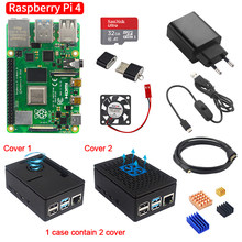 Raspberry Pi 4 Modelo B 2GB/4GB Placa de Kit + adaptador de corriente + caja + tarjeta SD de 32/64GB + Cable HDMI + disipador térmico para Raspberry Pi 4(China)